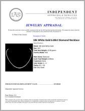Lot 148: ^18k White Gold 6.80ct Diamond Necklace