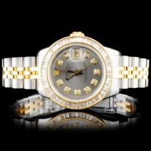 Lot 149: Rolex YG/SS DateJust Ladies Diamond Wristwatch