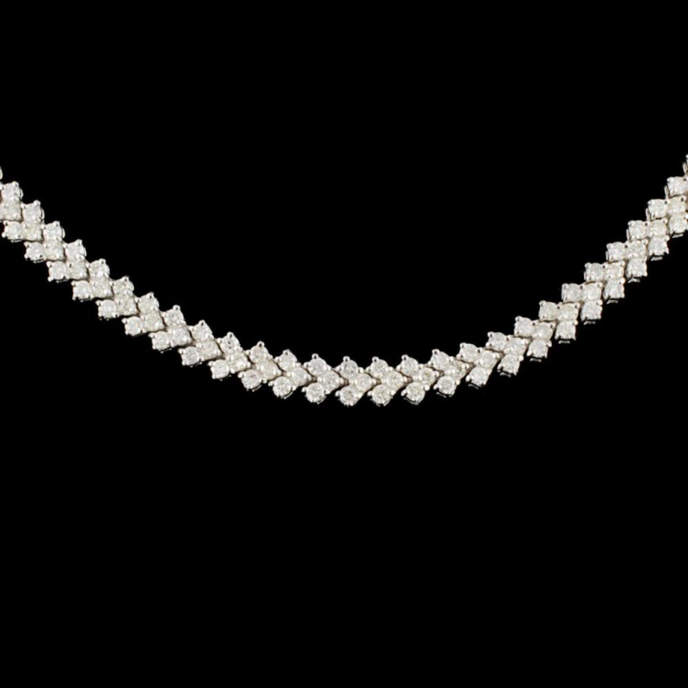 Lot 154: 18K Gold 6.00ctw Diamond Necklace