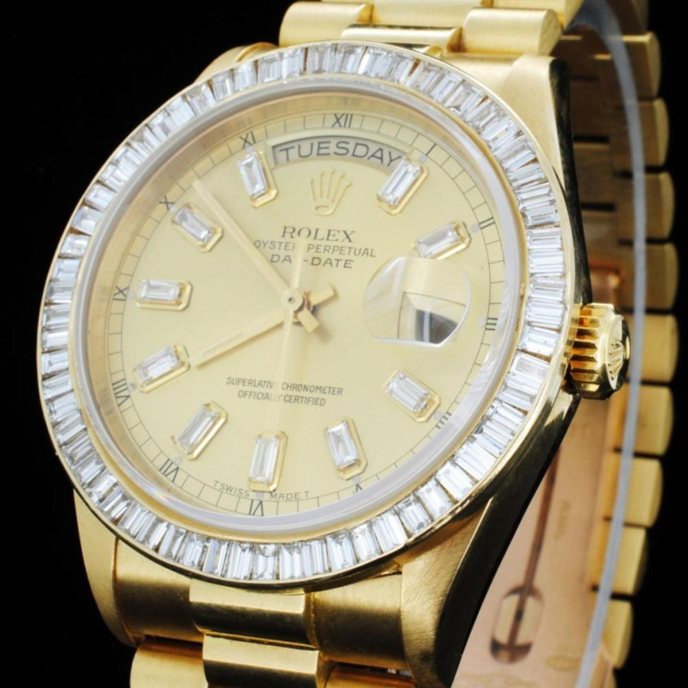 Lot 159: Rolex Day-Date Diamond 36mm Wristwatch