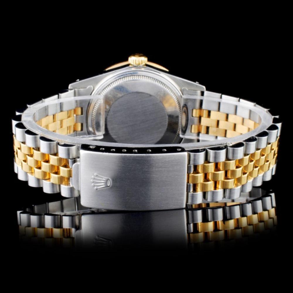 Lot 169: Rolex YG/SS DateJust Diamond 36mm Watch