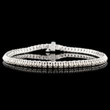 Lot 170: 14K Gold 1.00ctw Diamond Bracelet