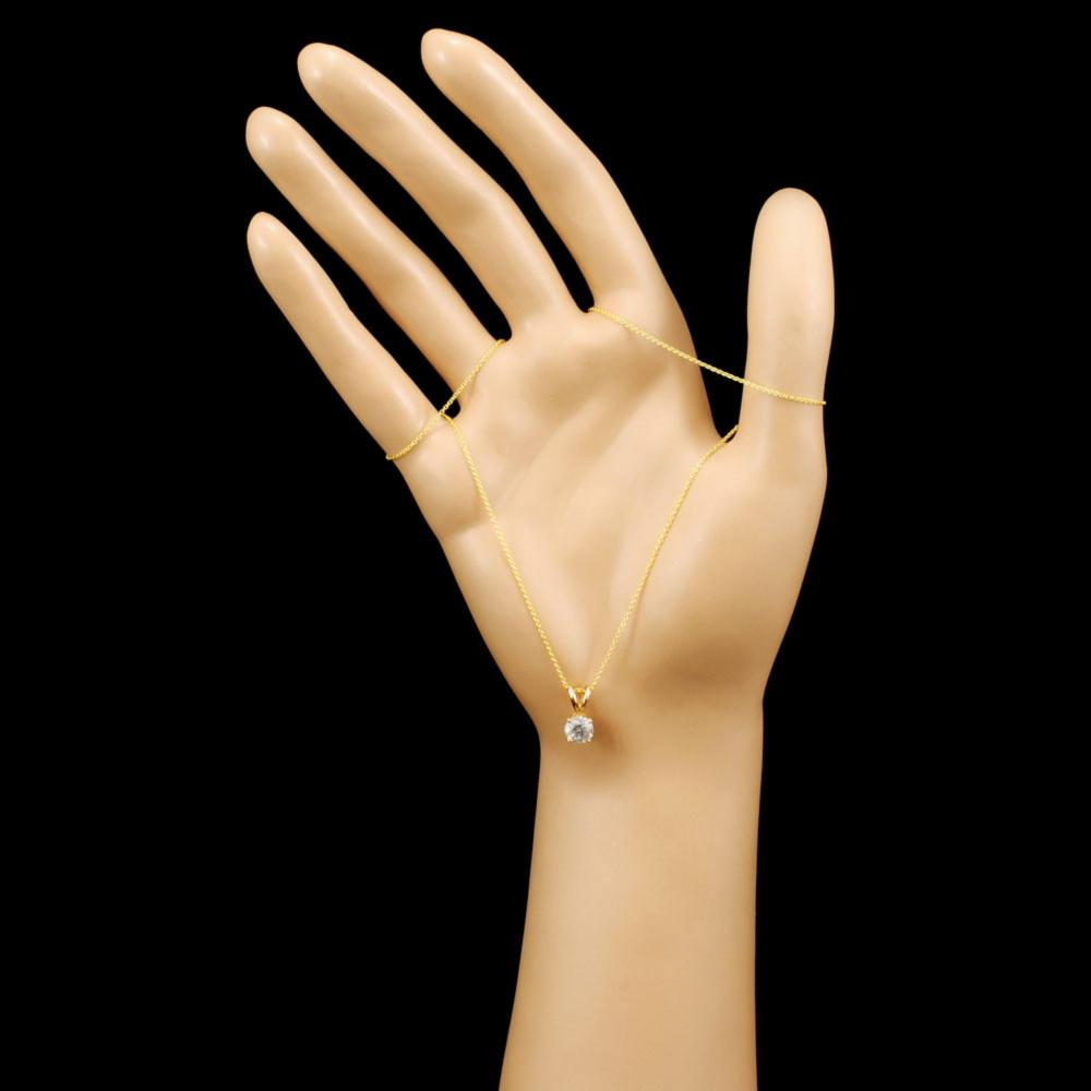 Lot 174: 14K Gold 1.01ctw Diamond Pendant