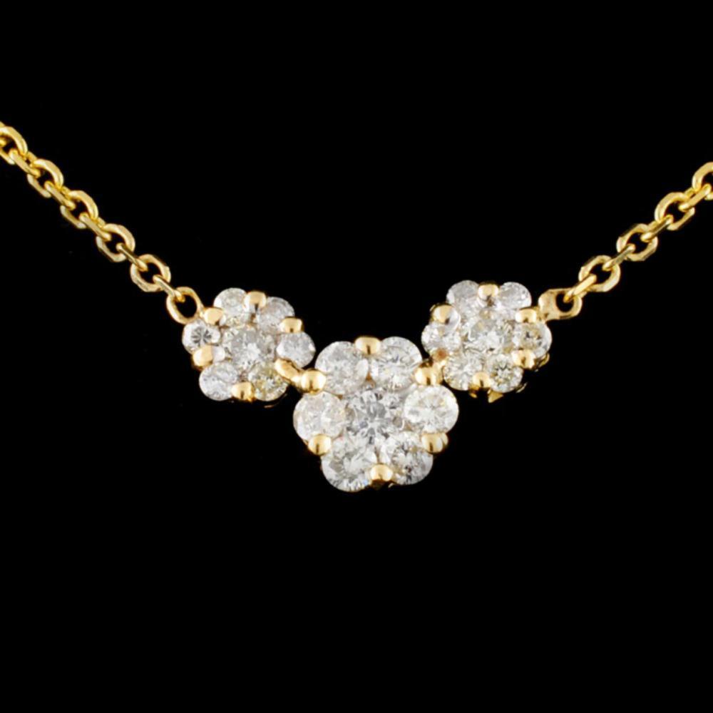 Lot 200: 14K Gold 0.50ctw Diamond Necklace