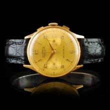OLYMPIC Suisse 18K Gold Chronograph 36mm Watch