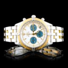 Breitling Chronomat 18K/SS Chronograph 36mm Watch