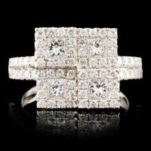 18K Gold 1.67ctw Diamond Ring