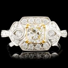 18K Gold 1.47ctw Fancy Diamond Ring