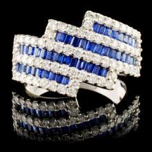 18K Gold 1.41ctw Sapphire & 1.03ctw Diamond Ring