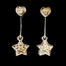 14K Gold 0.06ctw Diamond Earrings