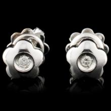 14K Gold 0.07ctw Diamond Earrings