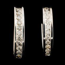 14K Gold 0.37ctw Diamond Earrings