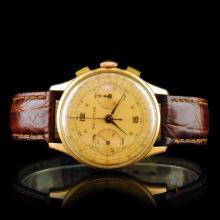 Chronographe Suisse 18K Rose Gold 36mm Wristwatch