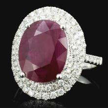 18K White Gold 4.69ct Ruby & 0.65ct Diamond Ring