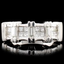 Platinum 0.85ctw Diamond Ring