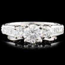 Platinum 1.82ctw Diamond Ring