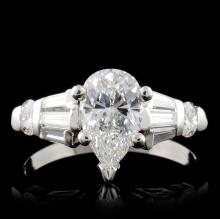 Solid Platinum 2.03ctw Diamond Ring