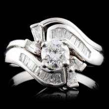 Platinum 1.22ctw Diamond Ring