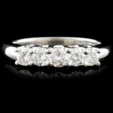 Platinum 0.77ctw Diamond Ring