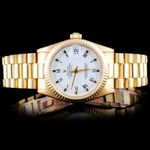 Rolex 18K YG Mid-Size DateJust Women Watch