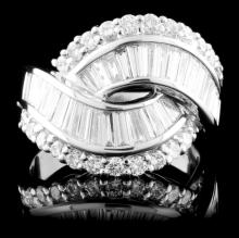 Platinum 2.78ctw Diamond Ring