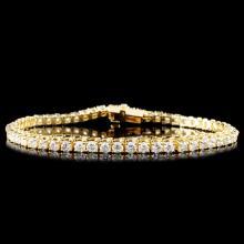 14K Gold 3.50ctw Diamond Bracelet