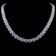 14K Gold 27.20ctw Tanzanite & 3.54ctw Diamond Neck