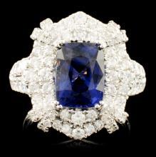 18K Gold 3.03ct Spinel & 1.46ctw Diamond Ring