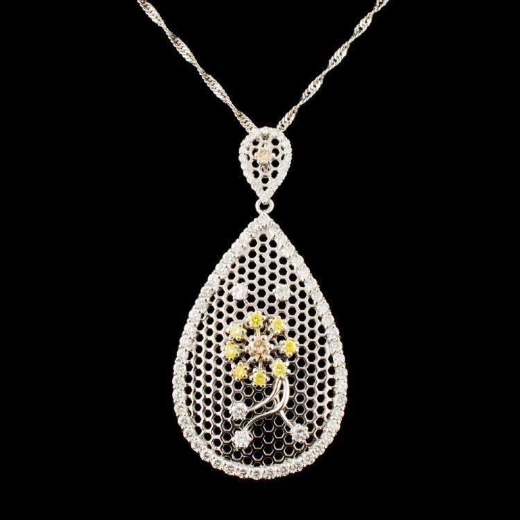 18K Gold 2.13ctw Diamond Pendant