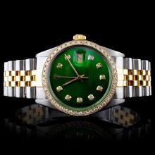 Rolex YG/SS DateJust 1.50ct Diamond Gent's Watch