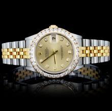 Rolex YG/SS DateJust 1.50ct Diamond Mid-Size Watch