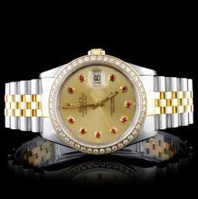 Rolex TT DateJust Diamond Men's Watch