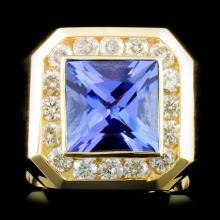 14K Gold 4.78ct Tanzanite & 1.47ctw Diamond Ring
