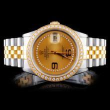 Rolex DateJust YG/SS 1.50ct Diamond 36mm Watch