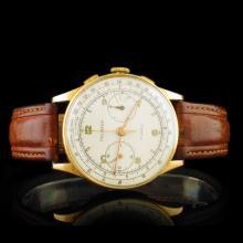 DELBANA 18K Gold 36mm 17 Jewel Wristwatch