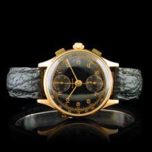 Dorex Chrono 18K Rose Gold 34mm Wristwatch