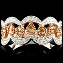 14K Gold 0.50ctw Fancy Color Diamond Ring