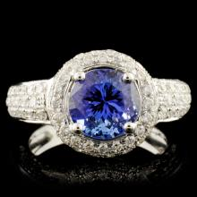 18K Gold 2.15ct Tanzanite & 1.03ctw Diamond Ring