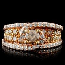 14K Rose Gold 2.19ctw Diamond Ring