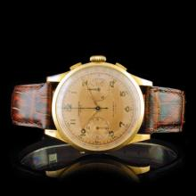 Chronographe Suisse 18K Gold 36mm 17 Jewel Watch