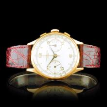 Chronographe Suisse 18K Gold 36mm Wristwatch