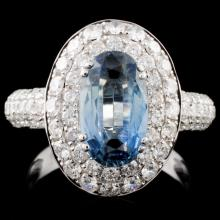 18K Gold 2.48ct Sapphire & 1.68ct Diamond Ring