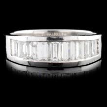 Solid Platinum 1.28ctw Diamond Ring