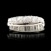 Platinum 1.26ctw Diamond Ring
