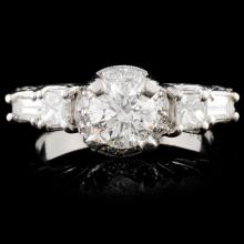 Platinum 1.35ctw Diamond Ring