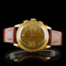 Chronographe Suisse 18K Rose Gold 36mm Wristwatch