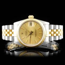 Rolex YG/SS DateJust Mid-size 31MM Ladies Watch
