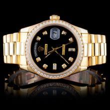 Rolex 18K YG 36MM Day-Date Diamond Watch