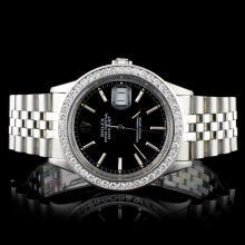 Rolex SS DateJust 1.50ct Diamond 36mm Watch