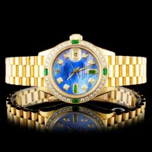 Rolex DateJust 18K YG Diamond 26MM Wristwatch
